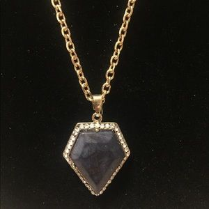 Distinct Designs Jewelry - Dark blue Druzy stone necklace